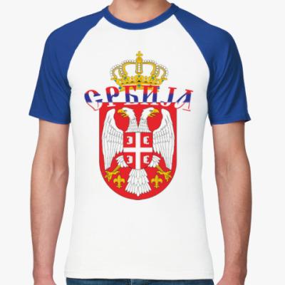 Футболка реглан Малый герб Сербии
