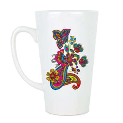 Чашка Латте Красивый узор