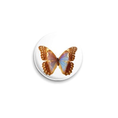 Значок 25мм  Бабочка 22