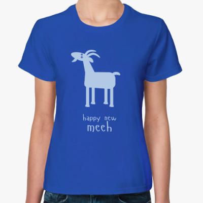 Женская футболка Синяя Коза