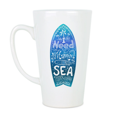 Чашка Латте I need vitamin SEA