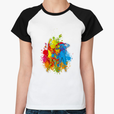 Женская футболка реглан   Dance