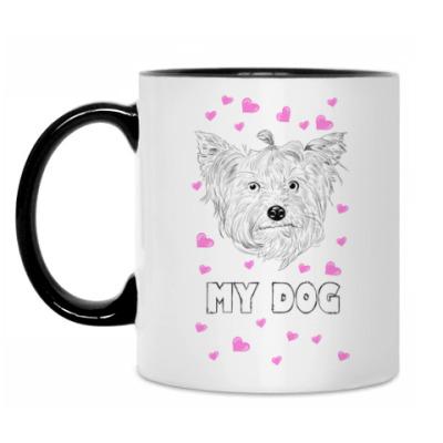 Кружка Love my dog