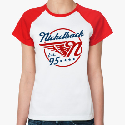 Женская футболка реглан Nickelback