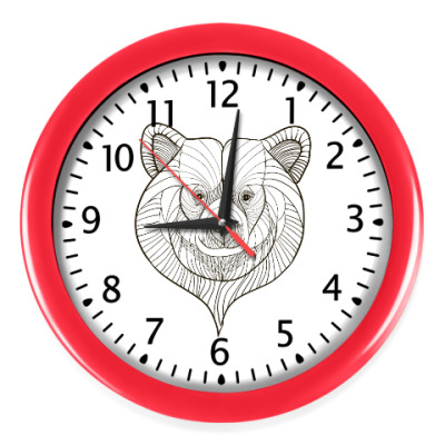 Настенные часы Голова медведя