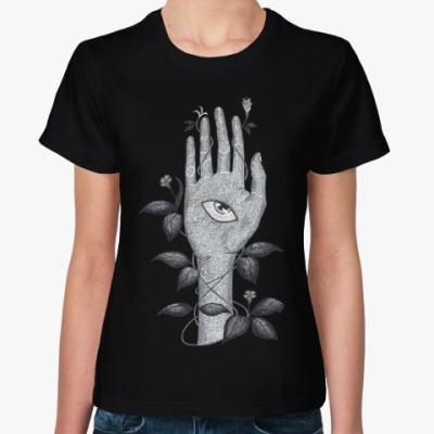 Женская футболка Хамса