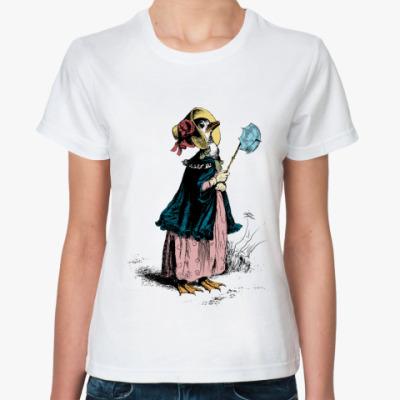 Классическая футболка  lady гусыня