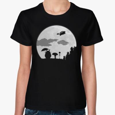 Женская футболка Большая Луна
