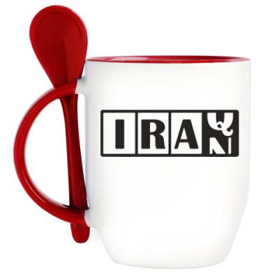 Кружка с ложкой Иран-Ирак