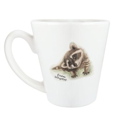 Чашка Латте Жизнелюбивый енот
