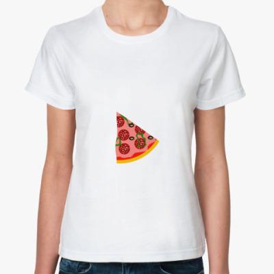 Классическая футболка  Кусочек пиццы
