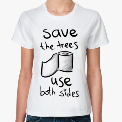 Классическая футболка Save the trees