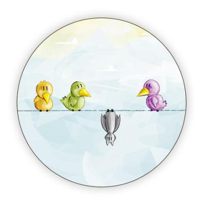 Костер (подставка под кружку)  Птички