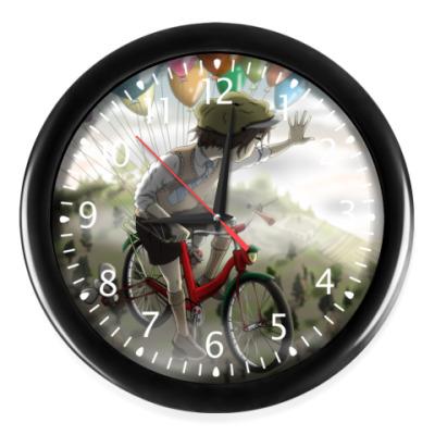 Часы Мальчишка на велосипеде