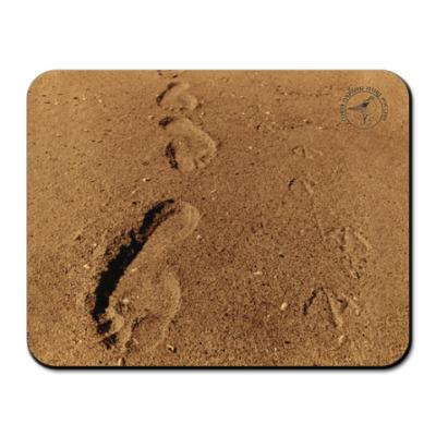 Коврик для мыши Следы на песке