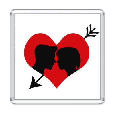 Магнит Сердце хочет любви