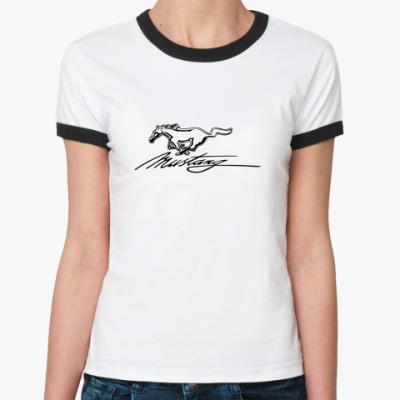 Женская футболка Ringer-T Mustang