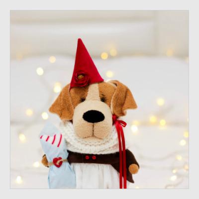 Постер Собачка с подарочной косточкой