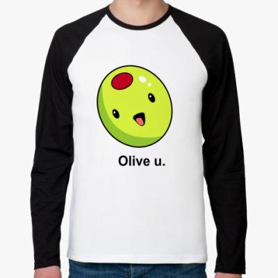 Футболка реглан с длинным рукавом Olive U