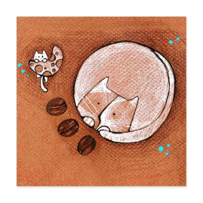 Виниловые наклейки Кофейная вселенная