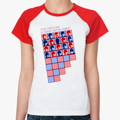 Женская футболка реглан A Hard Day's Night