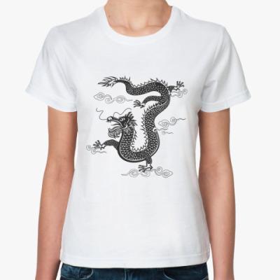 Классическая футболка Китайский дракон