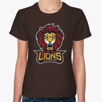 Женская футболка Львы Ланнистеров