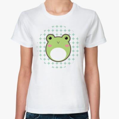 Классическая футболка 'Kaeru-chan'