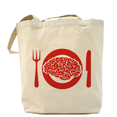 Сумка Холщовая сумка с мозгом.