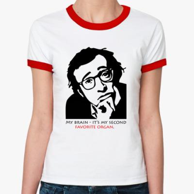Женская футболка Ringer-T Вуди Аллен