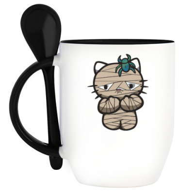 Кружка с ложкой Китти Мумия