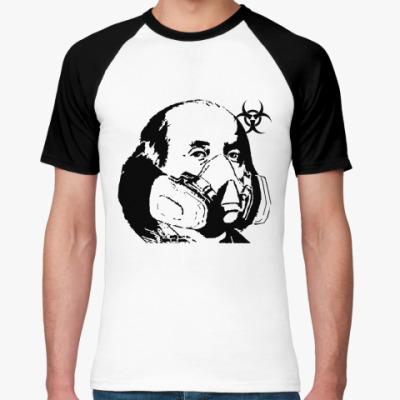 Футболка реглан Franklin mask(бел/чёрн)