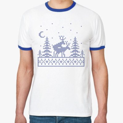 Футболка Ringer-T Олени в лесу