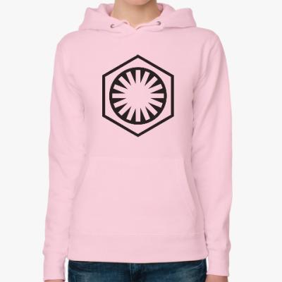 Женская толстовка худи Логотип The First Order