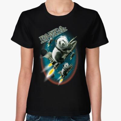 Женская футболка Панды атакуют