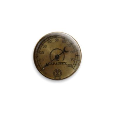 Значок 25мм  Циферблат Стимпанк