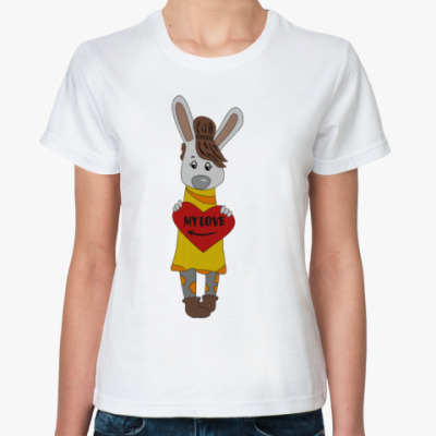 Классическая футболка  Зайка (My love)
