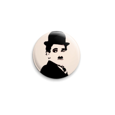 Значок 25мм `Чарли Чаплин`  25 мм