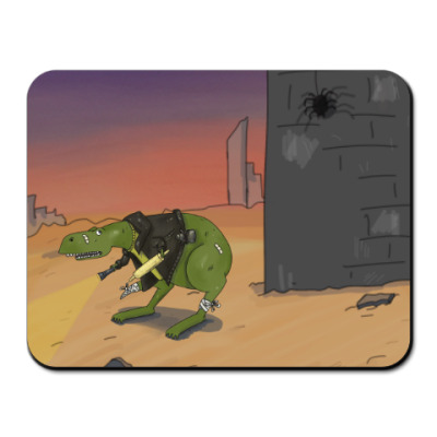 Коврик для мыши Трусливый Динозавр