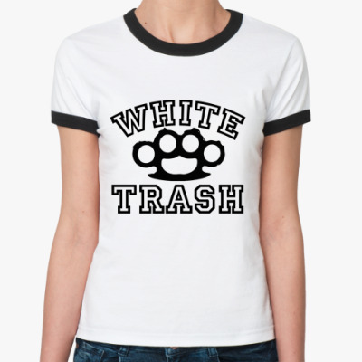 Женская футболка Ringer-T   WT KNUCKLE