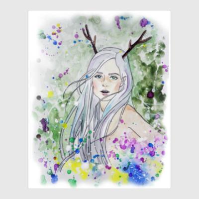 Постер Лесная фея, эльф