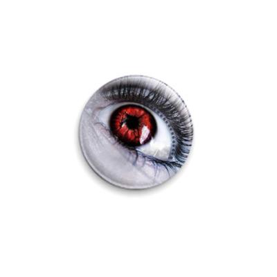 Значок 25мм  'Красный глаз'