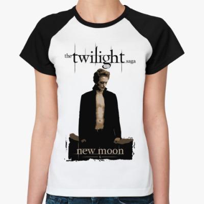 Женская футболка реглан New moon
