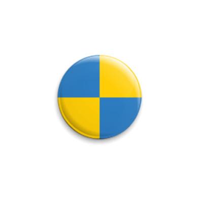 Значок 25мм  «UKRAЇNA-SVERIGE»