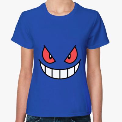 Женская футболка Gengar Face