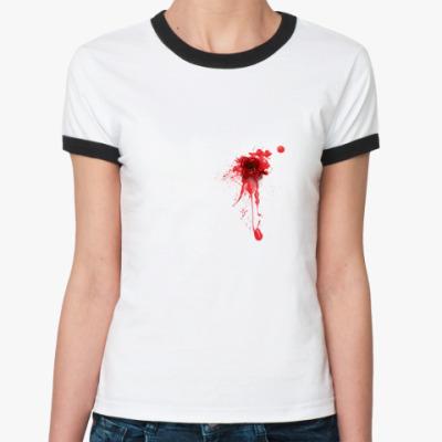 Женская футболка Ringer-T Сквозное отверстие