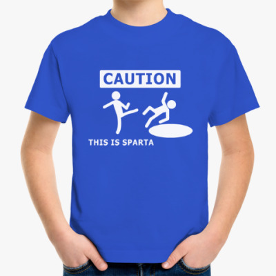 Детская футболка Caution: this is Sparta