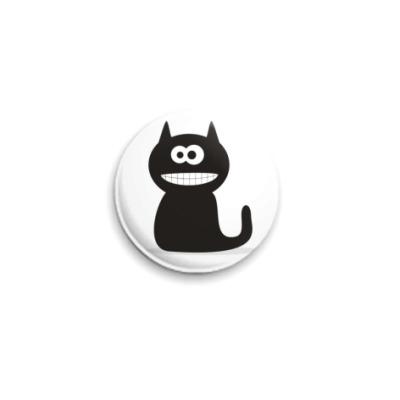 Значок 25мм  Black Cat