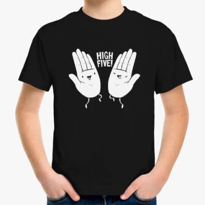 Детская футболка Ладошки привет руки друзья