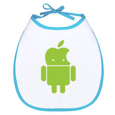 Слюнявчик Андроид голова-яблоко